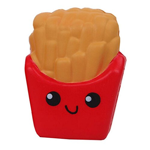 melysUS Cute Kids Cartoon French Fries Squeeze Toys Soft Slow Rebound Anti-Stress Toys Gag Toys & Practical Jokes