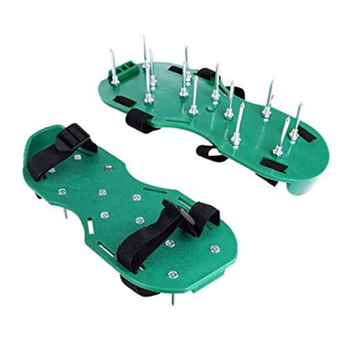 JMBF Zapatos de Aireación de Césped Puntas de Aireación de Césped Zapatos de Aireación de Césped con 2 Correas de Sujeción y Punta de Protección contra El óxido