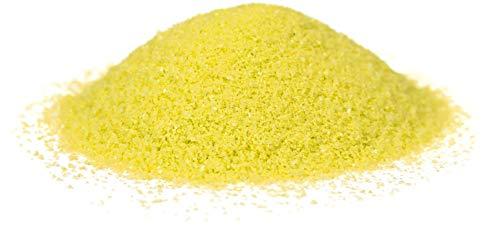 HEKU 30330-10-Arena decorativa (750 g, en caja reutilizable), color amarillo