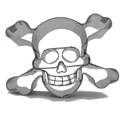 Ausstechform Ausstecher * Piraten Totenkopf * zum Kekse Backen oder Basteln // Aus Edelstahl von Städter // Mottoparty Kindergeburtstag Kinder Geburtstag Feier Fest Party Motto Pirates Pirat