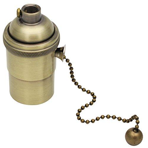 E27 Lampenfassung Kupfer Vintage mit Pull Kette für DIY Edison Pendelleuchte Hängelampe Halter Lampe Zubehör Bronze