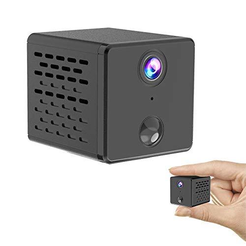 Mini Kamera Full HD 1080P, Überwachungskamera Mini Cam mit Infrarot Nachtsicht und Bewegungserkennung, für Indoor/Baby/Nanny/Haustier Cam(Neu)