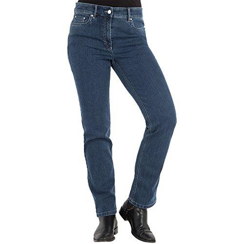 Zerres Damen Jeans CORA Straight Fit Comfort S Stretch, Größe:46;Farbe:68 STONEBLUE