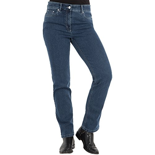 Zerres Damen Jeans CORA Straight Fit Comfort S Stretch, Größe:42;Farbe:68 STONEBLUE