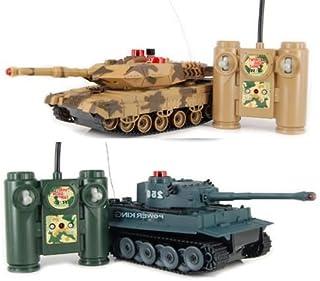 Hq iPlay RC Battling Tanks -Set of 2 Full Size Infrared Radio Remote Control Battle Tanks..