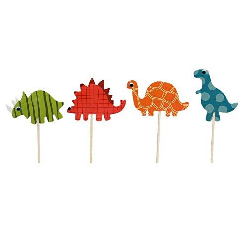 24pcs Dinosaurier Kuchen Dessert Karte Eingeschoben wird zum Geburtstag Kindertag Kinderparty oder Kinder zum Lernen
