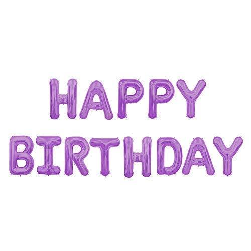 """Trimming Shop 16"""" (41cm) Alles Gute Zum Geburtstag 13 Buchstaben Fahne aus Folien Luftballons mit Aufblasen Strohhalm für Geburtstag Party Dekoration und Zubehör - Lavandell, 16"""