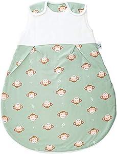 Hosenmax Premium Saco de Dormir de Bebé - Saco de Bebé de Algodón Orgánico - Relleno de Algodón - Resistencia Térmica TOG 2.5 - Saco de Dormir para Todo el Año - Mono Descarado Bebé 74/80cm