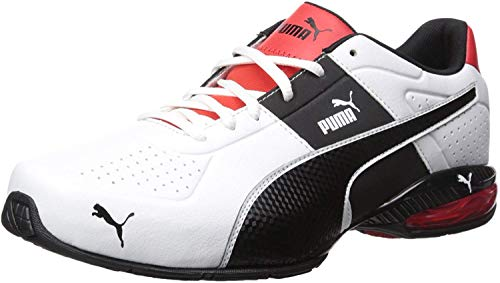 PUMA Men's Cell Surin 2 Sneaker, White Black, 9 M US