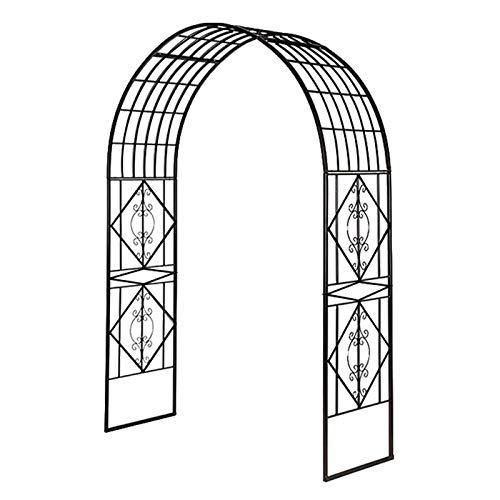 YICOL Metal Garden Arch,230cm High x 185cm Wide,Sturdy Metal Arbor for Climbing Vines and Plants,Weddings Party Ceremony Decoration
