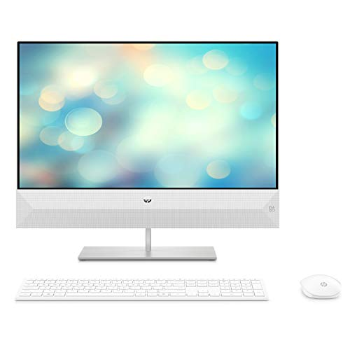 HP Pavilion 24xa0017nf Ordinateur Toutenun 23,8'' FHD Blanc (Intel Core i5, 8 Go de RAM, 1 To de Stockage + 256 Go de SSD, Windows 10)