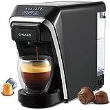 CHULUX Cafetera de cápsulas 2 en 1 compatible con cápsulas Nespresso y DG con estructura...