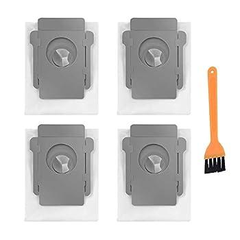 VacFit Replacement Dust Bag Parts Compatible for IRobot Roomba i 7150  i7+ i7 Plus  7550  i3+ 3550  i6+  6550  i8+ 8550  s9  9150  s9 Plus  9550 955020  I & S Series Automatic Dirt Disposal Bags