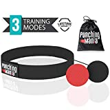 Punching Mania Boxing Reflex Ball for Adults and Kids – 2 Pro Punching Fight Balls on String for Hand Eye...