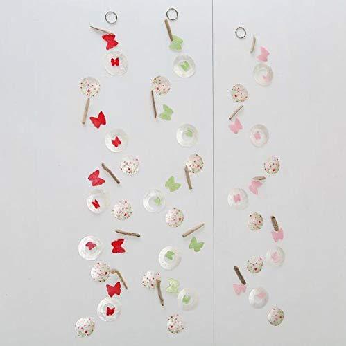 Girlande Flowery, 3 sort., L Material: Capiz, Treibholz 180 cm, Capiz, Farbmix Sortierung: 3 sort.; Naturstoffart: Capiz; Länge Artikel: 180 cm; Breit