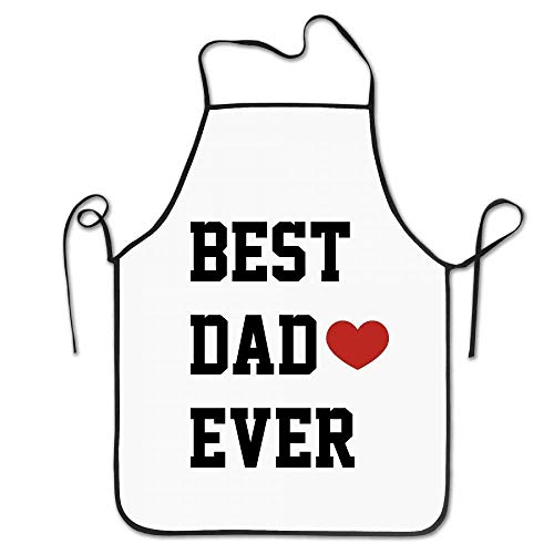 Drempad Premium Unisex Schürzen, Novelty Funny Best Dad Ever Kitchen Cooking Chef Apron Suitable for Domestic and Professional Purposes