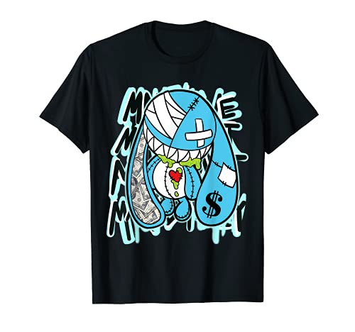 Money Bunny Graphic Tee Match Jordan 11 Low Legend Blue T-Shirt