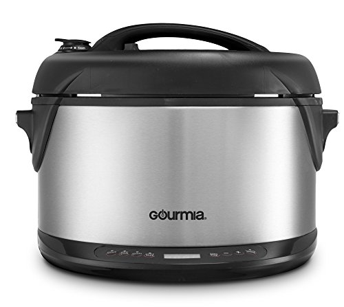 Gourmia Multifunction Electric 1-Hour Hot & Cold Smoker, Pressure Cooker, Slow Cooker...