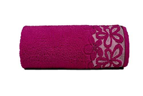 GRENO Handtuch Set 2 teilig, Baumwolle, Fuchsia, 50 x 90, 2
