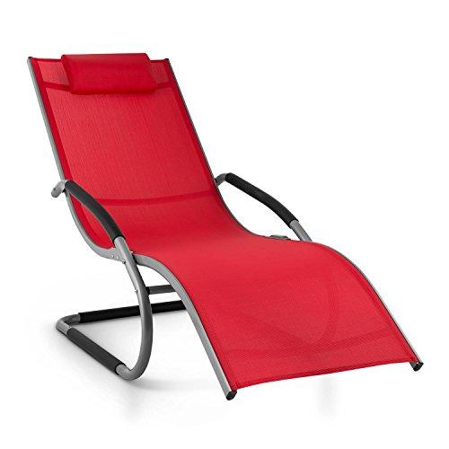 blumfeldt Sunwave Sedia Sdraio da Giardino Reclinabile Relax ergonomica in Alluminio (Struttira in Acciaio Tubolare, Effetto...
