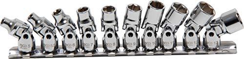 "BGS 220   Gelenk-Steckschlüssel-Satz   6,3 mm (1/4"")   SW 5 - 13 mm   10-tlg."
