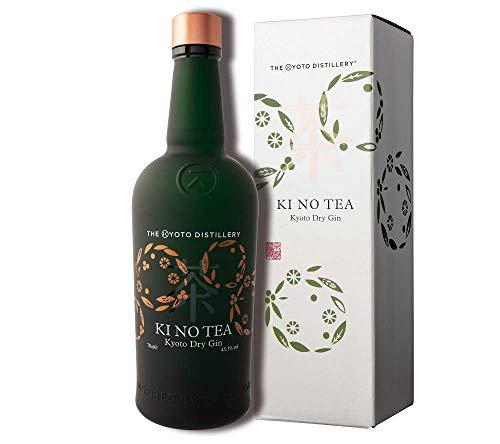 KI NO TEA Kyoto Dry Gin – Japanischer Gin in limitierter Edition mit einem leicht süßen Ausklang – 70cl Flasche inkl. Geschenkverpackung – 45,1 % Vol.