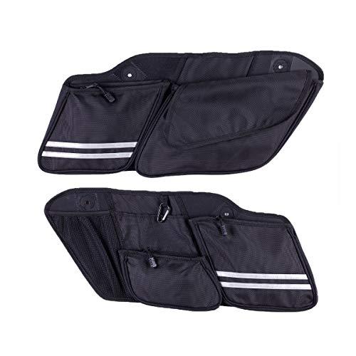 Hopider Saddlebag Side Organizers Storage Bag for 2014-2020 Touring Street Glide Road King Road Glide Electra Glide, 2 pack