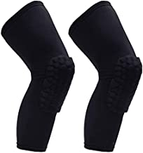 PISIQI Knee Pads Compression Pads Long Leg Sleeve Brace Protection for Basketball, Football & Volleyball (2 sleeves)