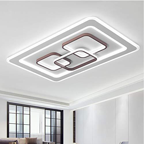 BFMBCHDJ Moderne LED-Deckenleuchte im Schlafzimmer für Wohnzimmerbeleuchtung Acryl quadratische runde Deckenleuchte austauschbar rund Dia42x5cm 40W