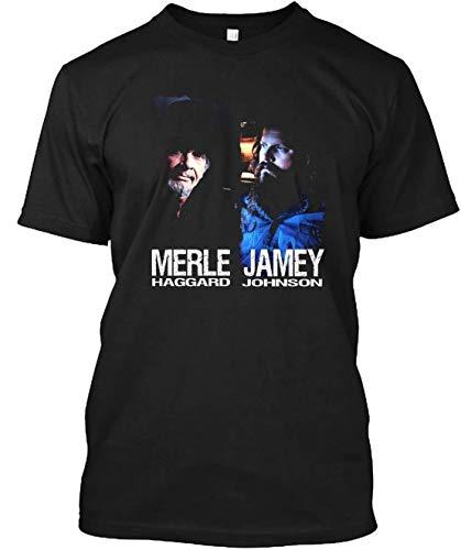 Merle Haggard Jamey Johnson Legend Tour 2019 T-Shirt Customized Handmade T-Shirt for Unisex