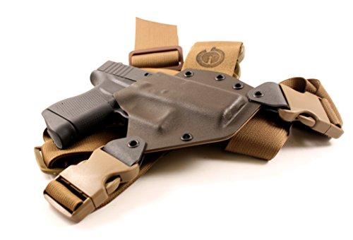 GunfightersINC Kenai Chest Holster for Glock 43, MAS Grey/Coyote, Right Hand