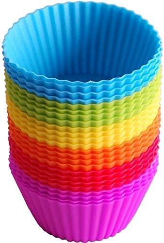 24 pcs silicone cake baking cup silicone baking cup silicone muffin cup reusable silicone cake product image