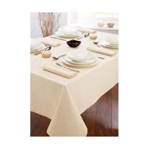 TRATTORIA Nappe de Table de Luxe pour Banquet - Crème Naturelle - Environ 177,8 x 274,3 cm - Beige - 177,8 x 274,3 cm