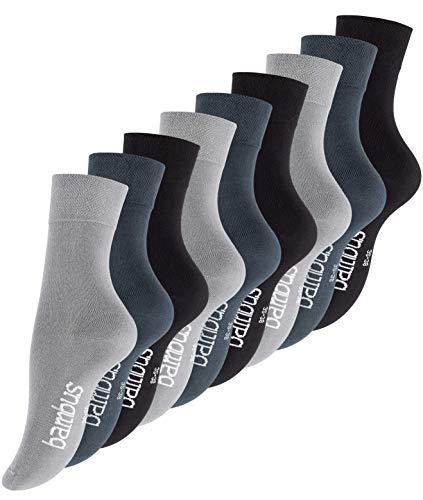 Vincent Creation 9 Paar Bambus Socken, Unisex Bambussocken für Damen und Herren, Handgekettelte Spitze (39-42, 9 Paar - Assorted (Grau, Stargazer, Schwarz))
