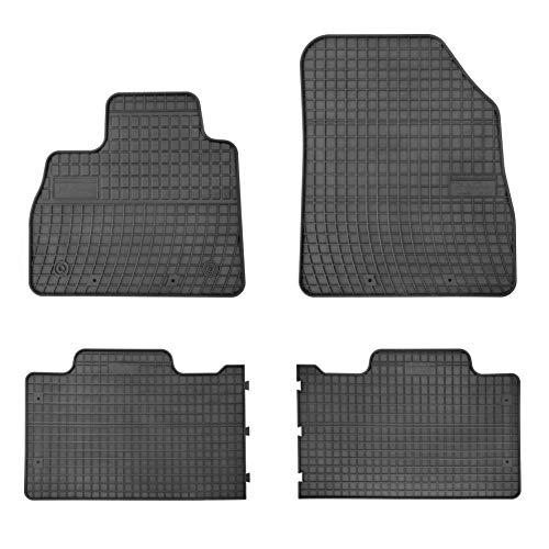 Frogum Alfombrillas de Goma Compatible con Renault Espace V Desde 2015 | Accesorios Coche Alfombra Goma Suelo