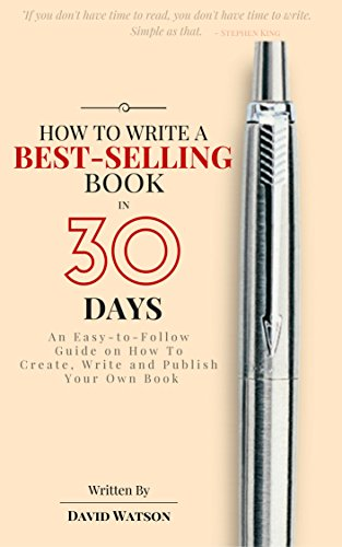 how to write a book in 30
