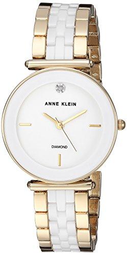 ANNE KLEIN Reloj analógico para Mujeres de con Correa en Cermica AK/3158WTGB
