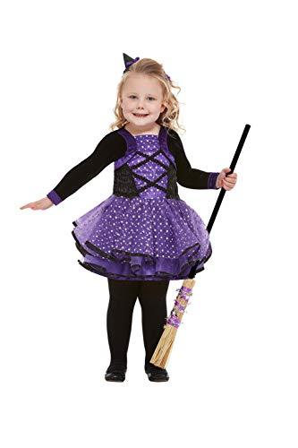 Smiffys 61127T1 - Disfraz de bruja de estrella para niño, color morado