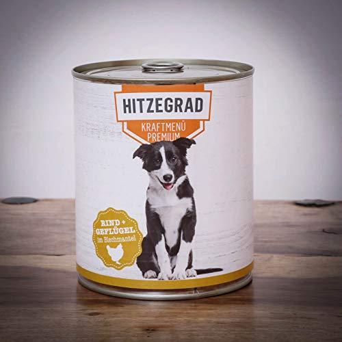 Hitzegrad® Kraftmenü, 800g Sparpaket 6 Dosen - Nassfutter für Hunde mit hohem Fleischanteil und in Premiumqualität
