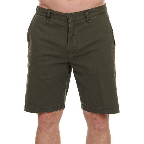 Rip Curl Traveller Walkshort Uomo,Pantaloncini Chino,Pantaloncini,Bermuda,Materiale Elasticizzato,Due Tasche,Dark Olive,29