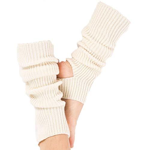 Gestrickt Beinwärmer,Beinwärmer Stricken Beinstulpen für Das Yoga-Tanzen,Das Turnhalle Ausübt,Halten Warm Weiß