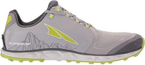 ALTRA Men's AFM1953G Superior 4 Trail Running Shoe, Gray/Lime - 11.5 D(M) US