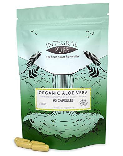 Aloe vera végétariennes gélules | certifié biologique | 450mg| Aloe Vera Capsules (90)