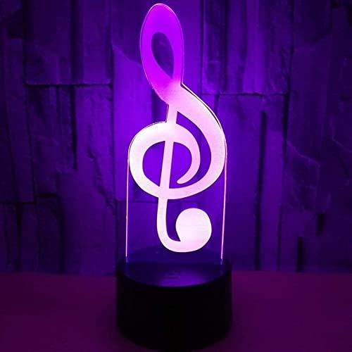 SDHouse Lámpara Escritorio Nota LED luz de Color gradiente 3D estéreo táctil a Distancia USB luz de la Noche decoración imaginativa Regalo de cumpleaños 20 * 13cm