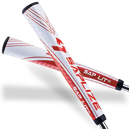 SAPLIZE Putter Grip Midsize Pistol Shape Light Anti-Slip Pattern, Sap Lit V2, Red