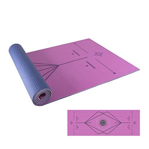 Redlemon Tapete de Yoga Grueso (6mm) Ultrasuave, Antideslizante y Antiderrapante, Resistente, Flexible, Fácil de Limpiar y Transportar, Enrollable. Mat Para Yoga, Ejercicio,...
