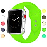 Appolis für Apple Watch Armband 38mm 42mm, Weiches Silikon Sports Ersetzerband Uhrenarmband, Smart...