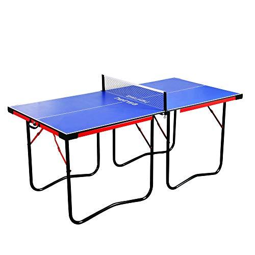 heinsa Premium Mini Tischtennisplatte Indoor - Tischtennisplatte klappbar mit Tischtennis Netz und Tragetasche - Mini Tischtennistisch zusammenklappbar 182 x 87 cm
