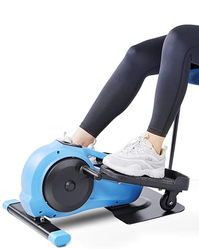 MaxKare Under Desk Elliptical Machine, Portable Stand Up/Seated Indoor Mini Elliptical Bike, Pedal Exerciser with LCD Monitor, 8 Level Adjustable Magnetic Resistance by MaxKare
