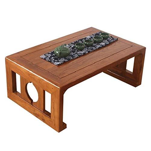 ADSE Tables Basses Moderne Minimaliste Table à thé en Bois Maison Chambre Table de lit Baie vitrée Bureau Zen Japonais Table Basse